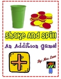 Shake and Spill Addition Game! (Great Center or Workstation!)