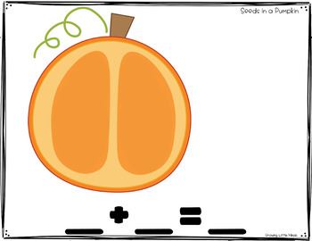 Shake and Spill Addition and Subtraction Story Mat Game- Seeds in a Pumpkin