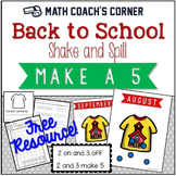 Shake and Spill Back to School, Composing and Decomposing Numbers