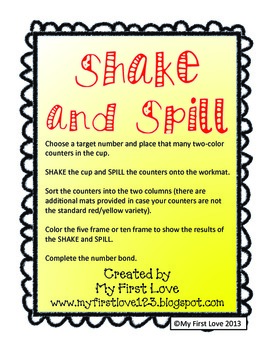 Shake and Spill: Building Fact Fluency with Number Bonds up to 10
