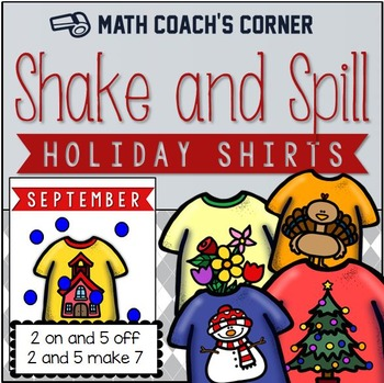 Number Combinations to 10: Shake and Spill Holiday Shirts