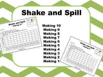 Shake and Spill - Math Fluency Activity