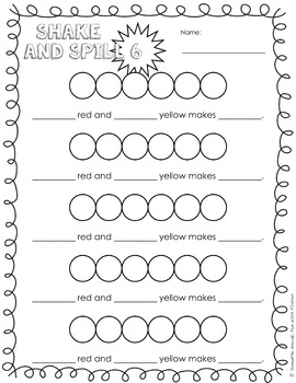 Shake and Spill: a hands-on activity to help introduce basic addition