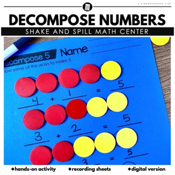 Shake and Spill Recording Sheets For Numbers 5 - 10