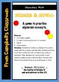 Shake and Spill math game