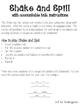 Shake and Spill with accountable talk