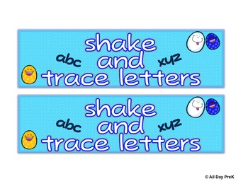 Shake and Trace Letters Freebie