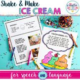 Shake 'n' Make Ice Cream for Speech and Language Skills