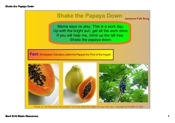 Shake the Papaya Down - Teaching Syncopation (Orff & Kodal