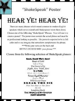"""ShakeSpeak"" Poster Project"