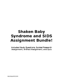 Shaken Baby Syndrome and SIDS Bundle
