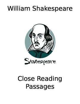 Shakespearean Speeches Close Reading Packet