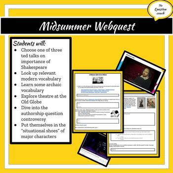 Shakespeare & A Midsummer Night's Dream Webquest