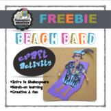 Shakespeare Activity: Beach Bard for Elementary or Middle School