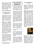 Shakespeare Article and Play Program