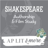 "Shakespeare Authorship Mini-Unit & ""Anonymous Film"" Study"