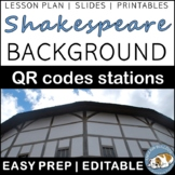 Shakespeare Background QR Codes Stations