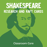 Shakespeare Background Research: RAFT Cards & Top 10