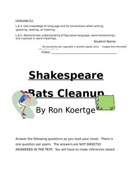 Shakespeare Bats Cleanup By Ron Koertge Novel Packet