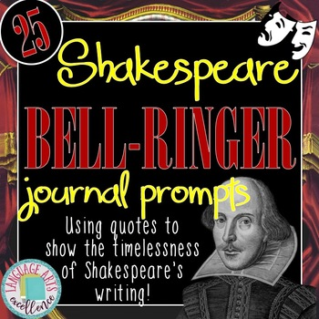 Shakespeare Bell  Ringer Journal Prompts