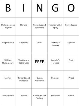 Shakespeare Bingo Review Games Bundle