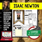 Sir Isaac Newton Biography Research, Bookmark Brochure, Pop-Up Writing Google
