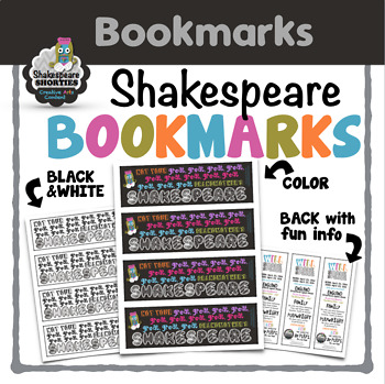 FREE Shakespeare Bookmarks: Not Your Great-Grandmother's Shakespeare
