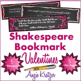 Shakespeare Bookmark Valentines