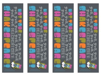 Shakespeare Bookmarks #2: Not Your Great-Grandma's Bookmarks