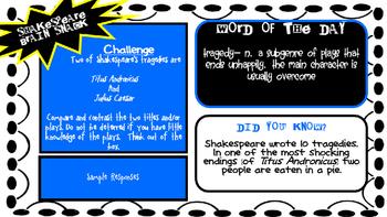 Shakespeare Brain Snacks