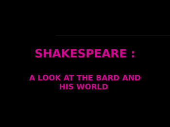 Shakespeare British Literature Lecture Powerpoint
