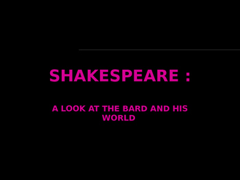 Shakespeare British Literature Lecture Powerpoint NOTES