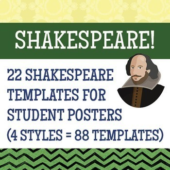 Shakespeare Bundle, Informational Text Resources, Poster Activity Resource
