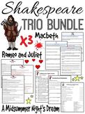 Shakespeare Bundle (A Midsummer Night's Dream, Romeo and Juliet, Macbeth)