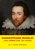 SHAKESPEARE BUNDLE! (Fun, Common Core, 113 Pages At Super Sale Price)