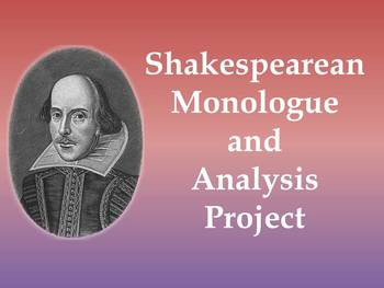 Shakespeare Classroom Monologues - Analysis and Performance