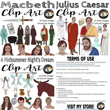 Shakespeare Clip Art Bundle