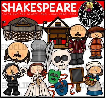 Shakespeare Clip Art Bundle {Educlips Clipart}