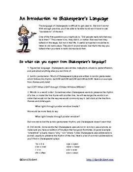 Shakespeare Biography Comic