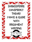 Shakespeare Conspiracy Theory Movie and Guide with Argument Writing