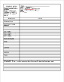 Shakespeare Cornell Notes Template
