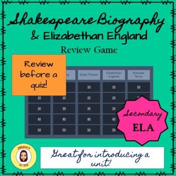 Shakespeare/Elizabethan England Review