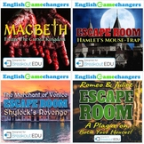 Shakespeare Escape Room BUNDLE: Macbeth, Hamlet, Romeo & Juliet, Merchant