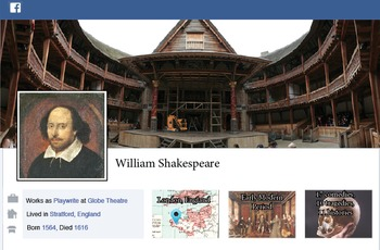 Shakespeare Facebook Page Poster