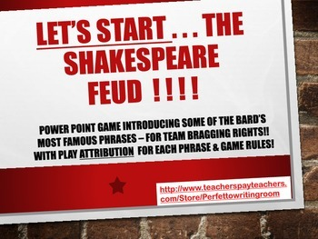 Shakespeare Feud! - Bard's Idioms in a PowerPoint Team Game!