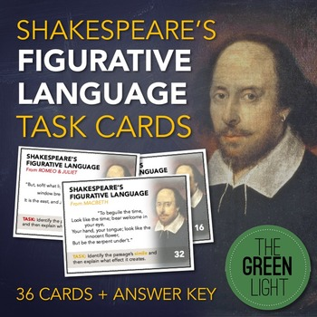 Shakespeare Figurative Language Task Cards: Bell-Ringers,