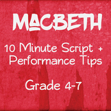 Shakespeare For Kids - 10 Minute Macbeth for Elementary Students
