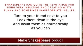 Shakespeare Game - Insults
