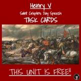 Shakespeare: Henry V: Saint Crispin's Day - Task Cards