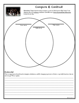 Shakespeare High ~ Movie Questions & Extended Response Prompts